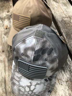 Condor Mesh FlexFit Cap with Coordinating Flag Patch